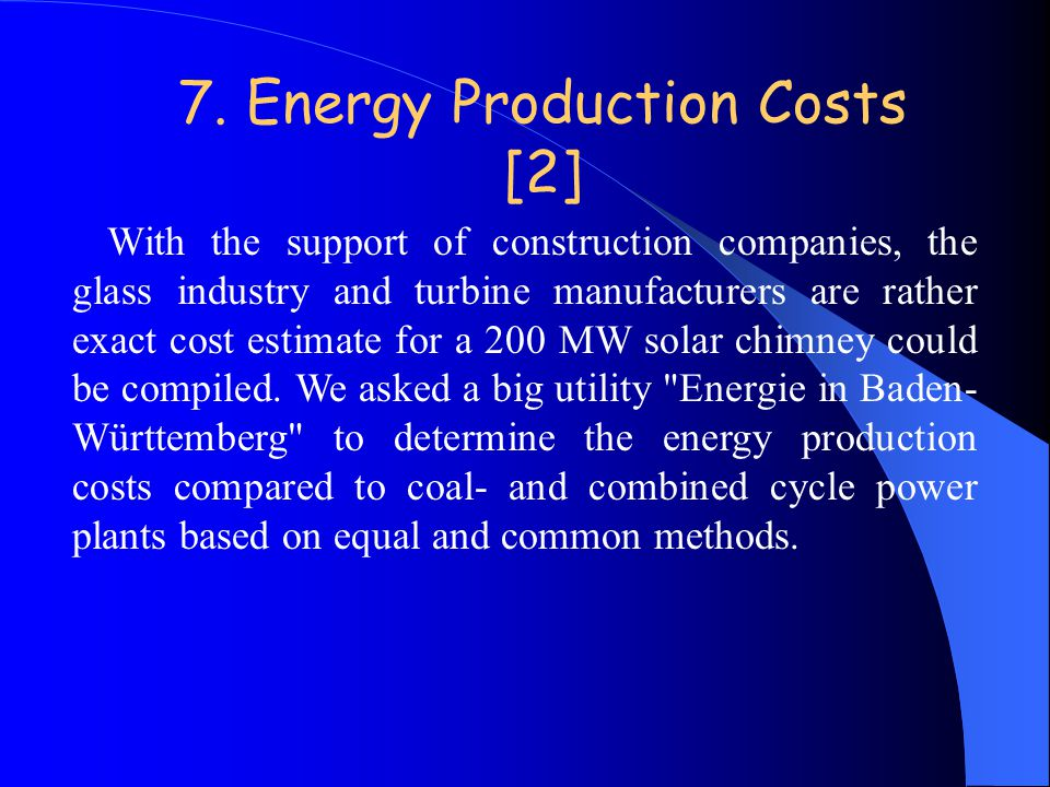 7. Energy Production Costs [2]